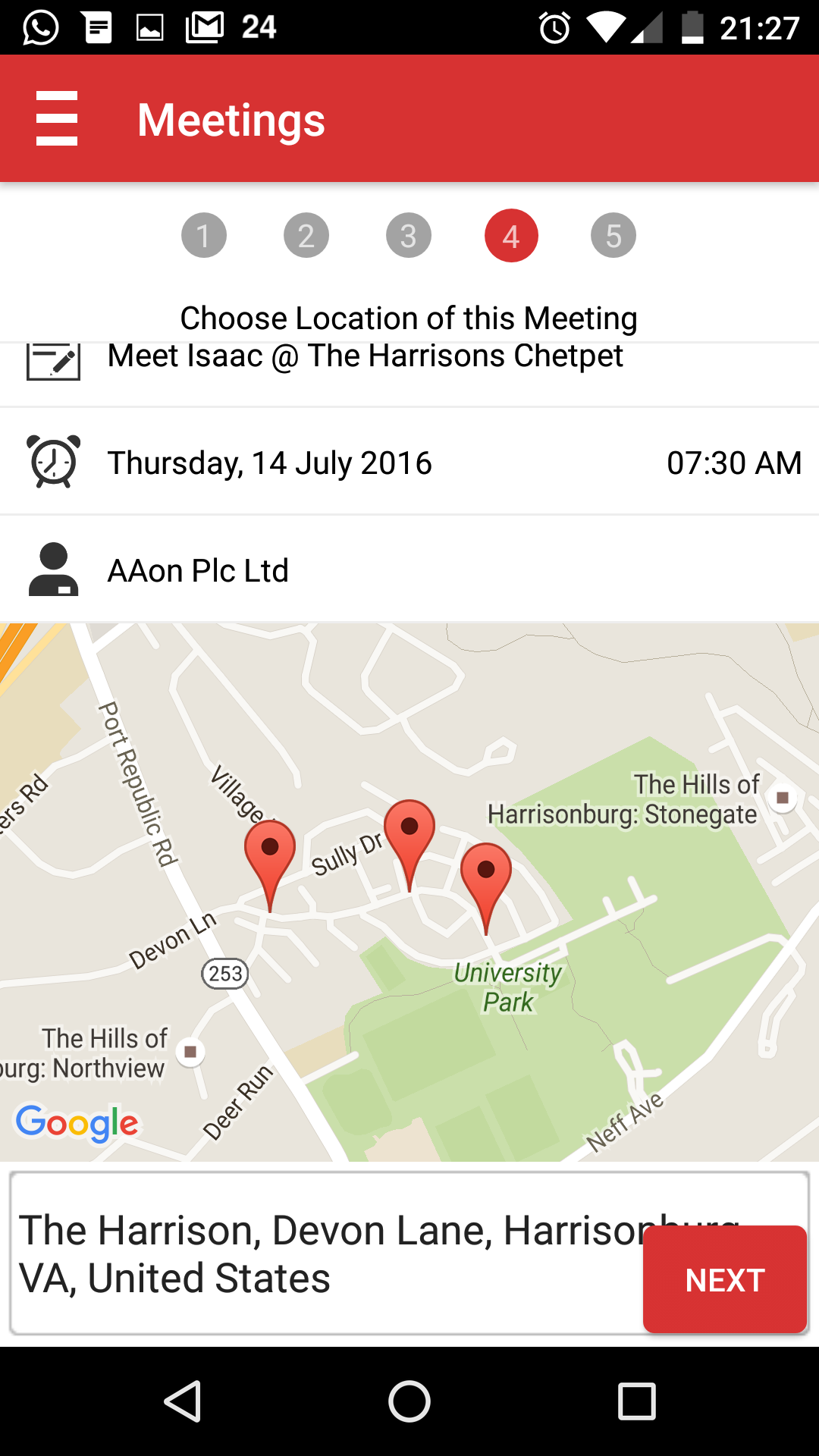 SOCAmps Mobile CRM Meeting - Pick Location