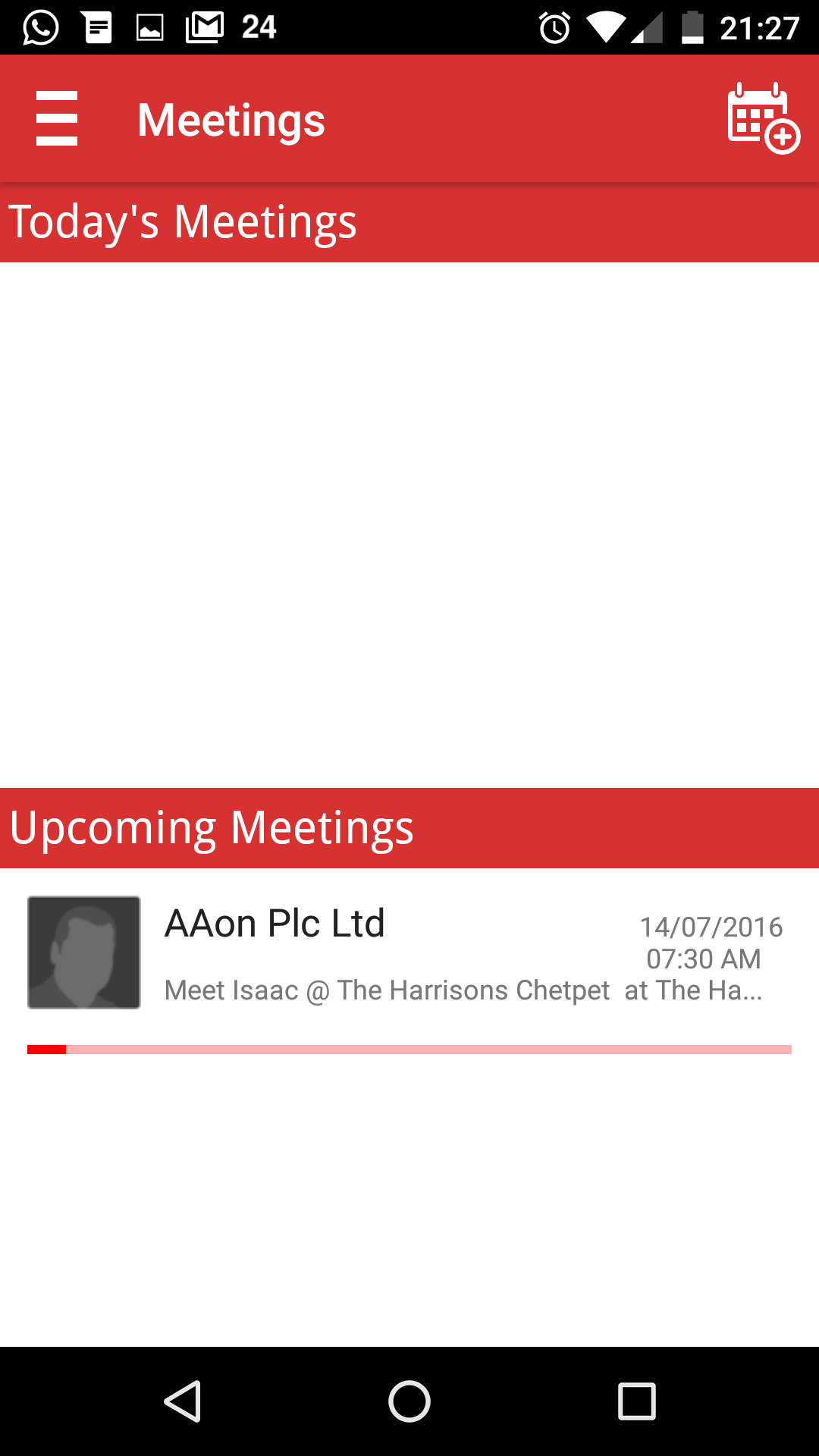 SOCAmps Mobile CRM Today's & Upcoming Meetings